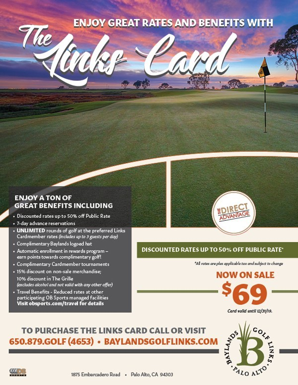 Info flyer for The Links Card